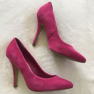 Steve Madden Hot Pink Suede Pumps sz8